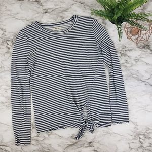 Madewell Small Tie Front Long Sleeve